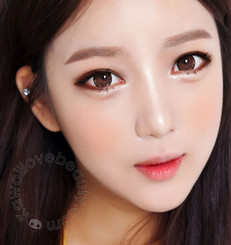 Perfect doll-eyed look with Geo Xtra Brown WTB94 circle lenses.