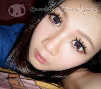 Dueba Barbie Diamond violet circle lenses for big, dolly eyes.