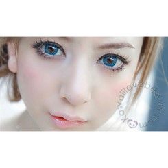 Big, dolly beautiful eyes with Puffy 3Tones Blue circle lenses by Dueba Barbie.