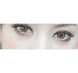 Vibrant, dolly eyes with Barbie Puffy 3 Tones Brown circle lenses.