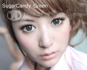 Circle lenses in Dolly Eye Sugar Candy Green.