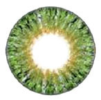 Design detail of Geolica Lady Lime Green 14.2mm circle lenses.