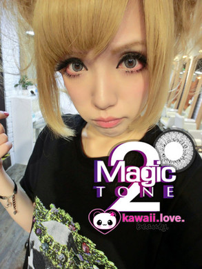 Bright, doll eyes with Blytheye Grey circle lenses by Dolly Eye in low-lighting.