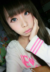 Vivid blue circle lenses - Geolica Funky Cat Blue.