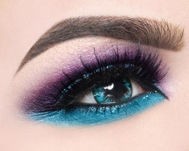 Korean turquoise circle lenses