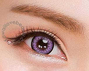 Milk Lilac bright lavender/purple circle lenses by i-Codi Colors of the Wind