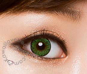 Bright green circle lenses, Colors of the Wind Evergreen