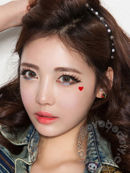 Charm 4 Tone (Vassen Rainbow) Blue colored contact lenses by Beuberry
