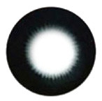 Barbie Pearl Black hyper-sized big eye circle lens.