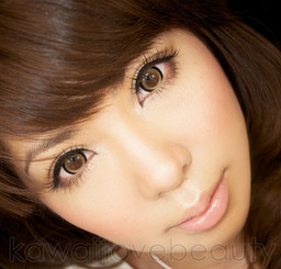 Sakura brown WIA24 14.8mm circle lenses on brown eyes.
