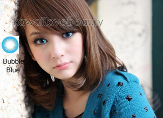 Barbie Bubble Blue colored contact lenses.