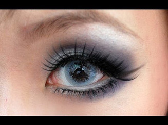 Bubble Grey on dark eyes.