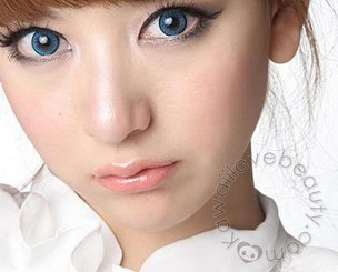 Blytheye (EOS Adult II) Blue colored contact lenses by Dolly Eye.