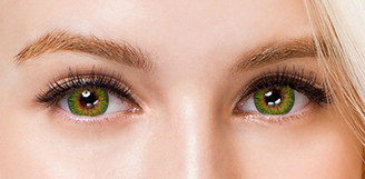 Colors of the Wind No.19 Lime circle lenses by i-Codi.