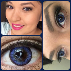 Lovely blueberry-hued circle lenses in #34 Blue Violet by i-Codi.