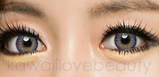 Deep and vibrant Blue Violet colored contact lenses in i-Codi #34.