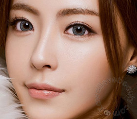 Cloud grey colored contact lenses / circle lenses.