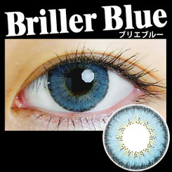 Lovely, natural-looking blue eyes with EOS Briller Blue circle lenses.