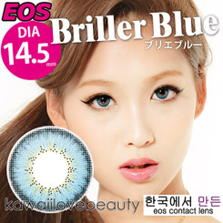 Briller Blue 14.5mm circle lenses by EOS.