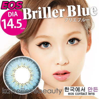 Briller Blue 14.5mm circle lenses by EOS.