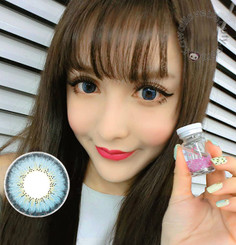 Get pretty doll-like eyes with EOS Briller Blue colored contacts.