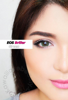 EOS Briller Green 14.5mm Korean circle lenses.