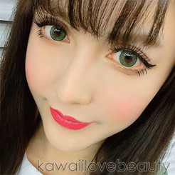Lovely dolly green eyes with EOS Briller circle lenses.