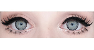 Comfortable, doll-eye Korean contact lenses in 3 Tone Nudy Grey by Sweety.