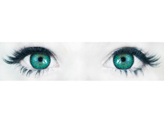 Comfortable, doll-eye Korean contact lenses in 3 Tone Nudy Green by Sweety.