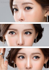Lovely, natural HC245 Grang Grang circle lenses by Geo on brown eyes.