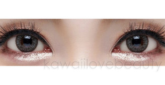 Closeup on Geo Grang Grang HC-245 Grey circle lenses