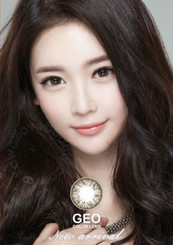 Pretty ulzzang look with Korean circle lenses Geo HC245 Grey