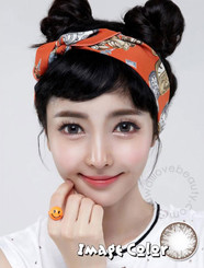 Natural dolly WHC245 Big Grang Grang circle lenses by Geo on brown eyes.