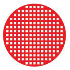 Red Mesh / Red Screen cosplay contact lenses