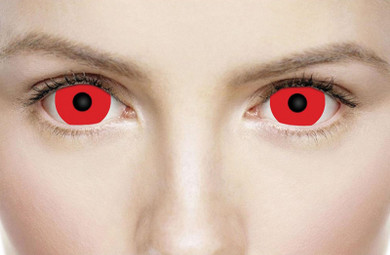 Crazy red mini sclera cosplay lenses