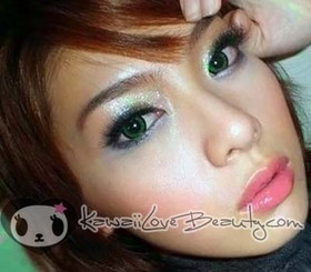 CM-833 Angel Green colored contacts by Geo Magic Color.