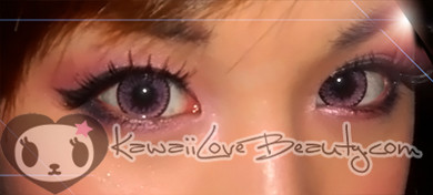 Pretty pink colored eyes with CH627 Nudy Pink circle lenses.