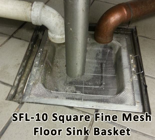 floor sink strainer made with stainless steel mesh
