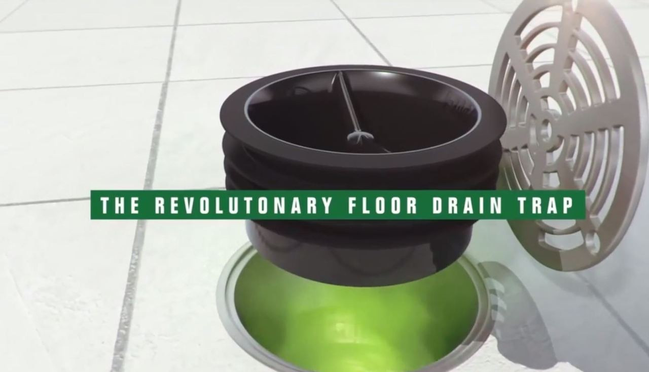 Green drain inline floor trap quot stop