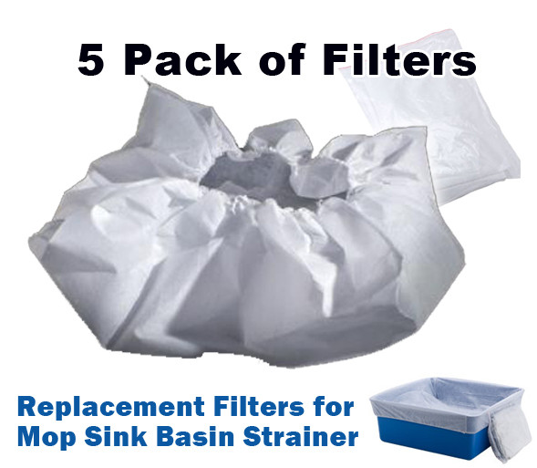 Filters For Mop Sink Basin Strainer 5 Pack Drain Net