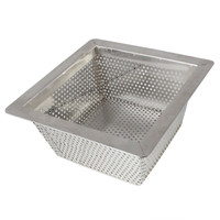 10 inch x 10 inch Stainless Steel Strainer Basket - 5 inches deep