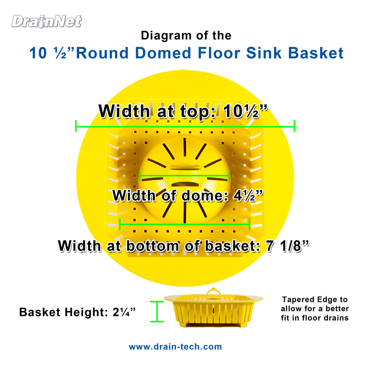 PermaDrain Round 10.5 inch dome basket for floor sinks