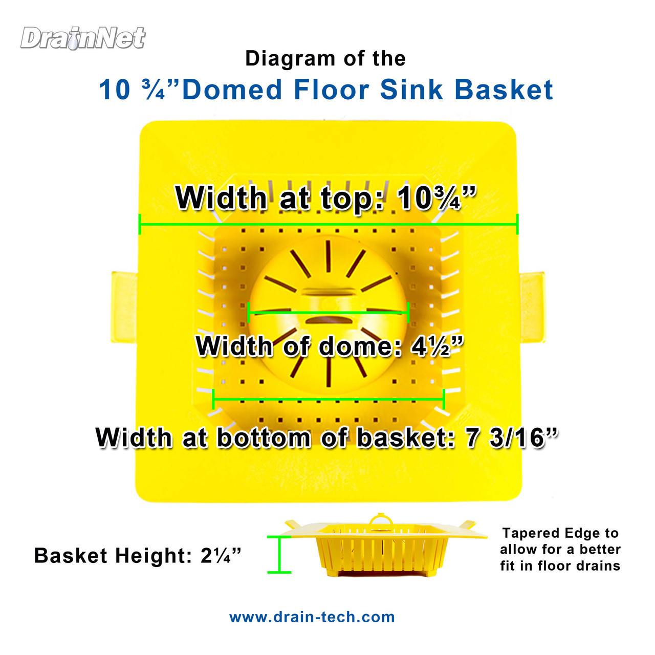 PermaDrain 10.75 inch dome basket for floor sinks