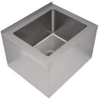 "Floor Mounted Mop Sink  25""W x 21""D x 16""H"