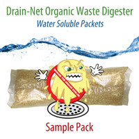 Drain-Net Organic Waste Digester, Water Soluble Packets (10-pack sample)