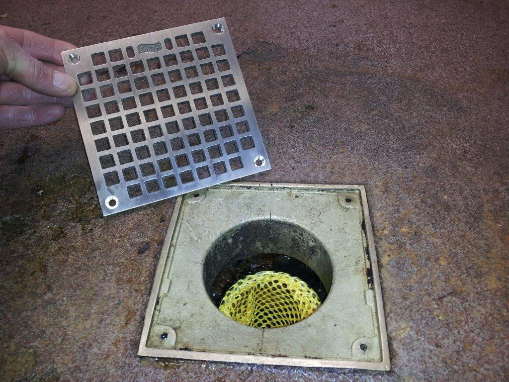 Drain Sock in Floor Drain for restaurants