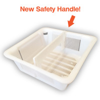 "Floor Sink Basket with Safety Handle - 6.5"" Square"