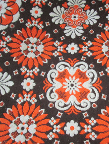 Vintage Multicolor Floral Pattern Reversible Heavy Fringe Blanket
