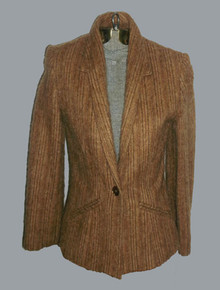 Vintage Lorch Wool Blend Crop Hairy Buttoned Closure Fitted Tuxedo Blazer Short Pocket  Jacket