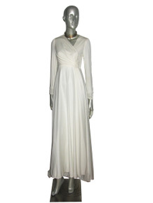 Vintage White Sequins Multifunctional Wedding Gown Dress